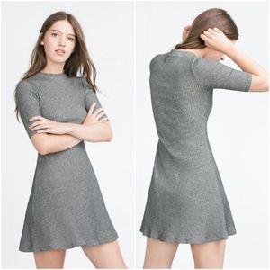 Zara | Ribbed Skater Dress